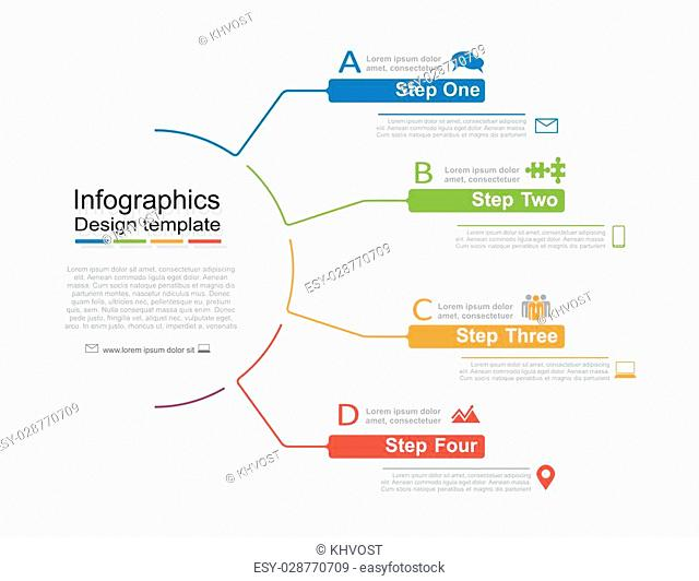 Infographic design template with place for your data. Vector illustration