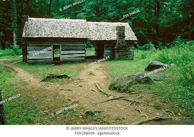 Ephraim boles cabin. Great Smoky Mountains National Park. Tennessee. USA