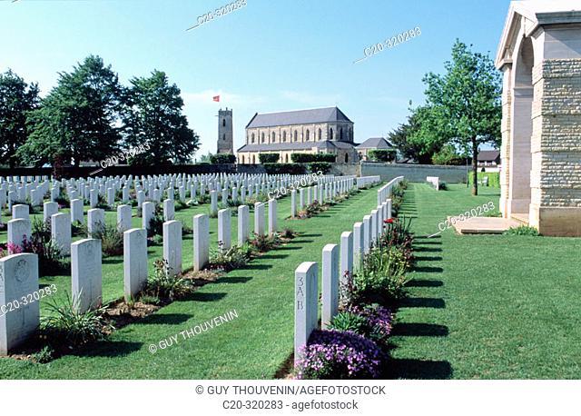 France. Calvados. War landing beaches. Ranville. Military cemetery