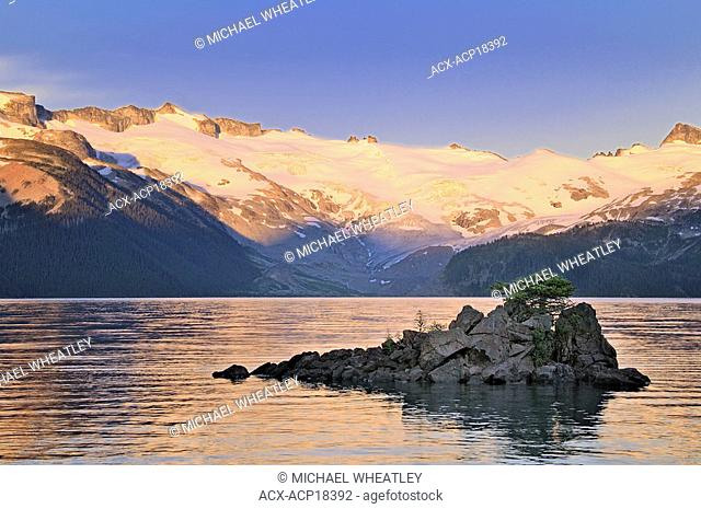Dusk at Garibaldi Lake, Garibaldi Provincial Park, British Columbia, Canada