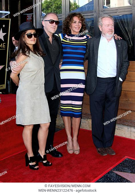 Ridley Scott honored with star on the Hollywood Walk Of Fame Featuring: Salma Hayek, Francois-Henri Pinault, Giannina Facio, Ridley Scott Where: Hollywood