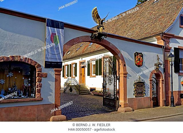 Winery Provis Anselmann, entrance, home Edes Germany