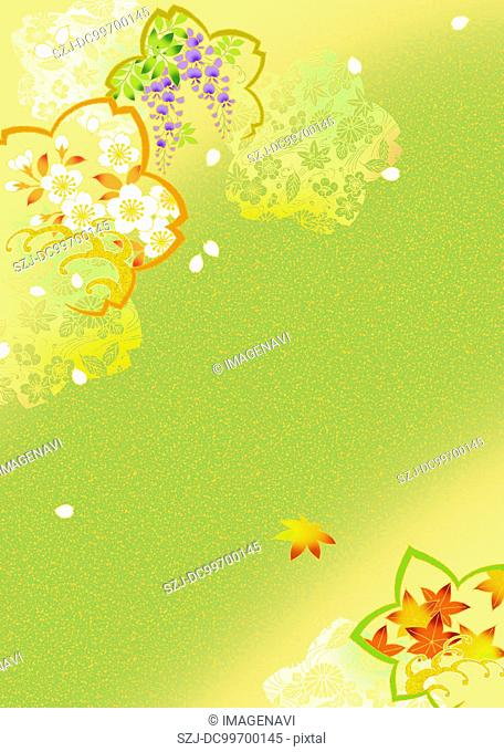 Oriental background with flower