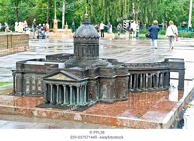 Miniature copy of the known ancient building is in city Saint Petersburg