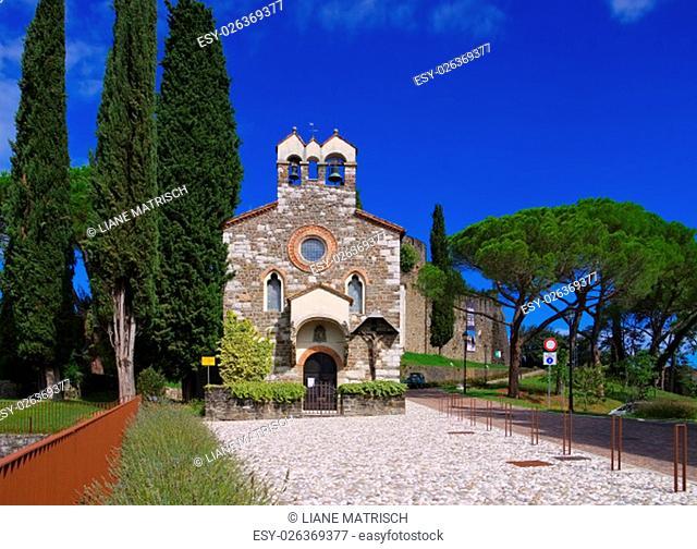 gorizia in italy,the castle chapel - gorizia in italy,the castle and chapel