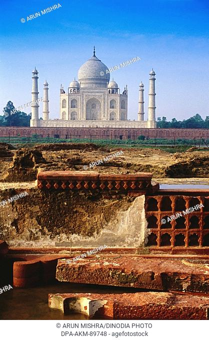 Taj Mahal Seventh Wonder of The World , Agra , Uttar Pradesh , India