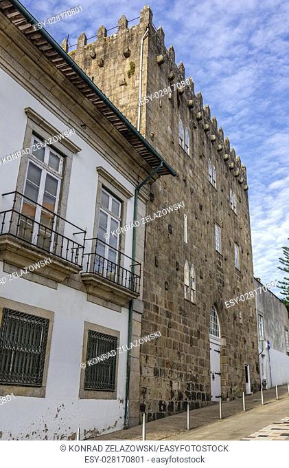 Tower of Pedro-Sem (Torre de Pedro Sem or Residencia da Torre da Marca) former medieval fortification in Massarelos civil parish of Porto city on Iberian...
