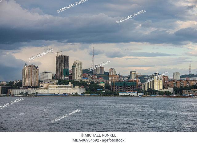 The skyline of Vladivostok, Russia