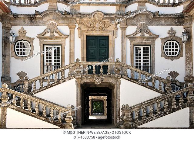 Casa de Mateus manor, Stairs, Mateus, Tras-Os-Montes, Portugal
