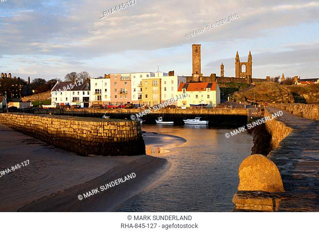 The Harbour at dawn, St Andrews, Fife, Scotland