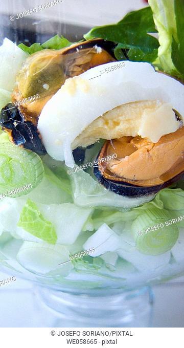 Mussels salad