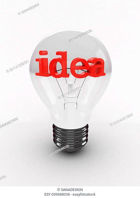 Light bulb isolated on white background. 3D