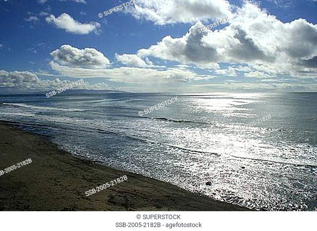 Clouds over the ocean, Cambria, San Luis Obispo County, California, USA