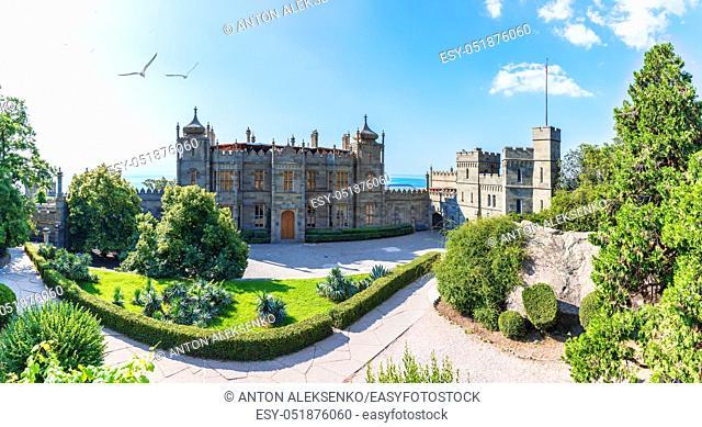 Beautiful Vorontsov Palace by the sea, Crimea, Ukraine