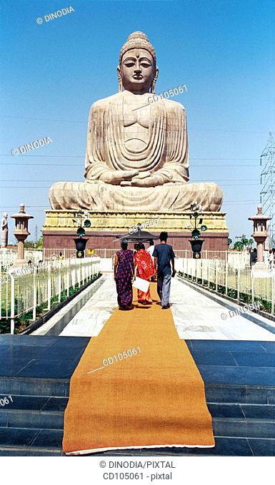 The Great Buddha statue. Bodhgaya. Bihar. India