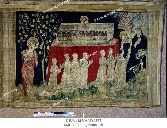 La Tenture de l'Apocalypse d'Angers, Cinquième sceau : les âmes des martyrs 1,60 x 2,40m, das fünfte Siegel: die Seelen der Märtyrer