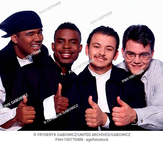 """""""""""All-4-One"""", amerikanische R&B-Gruppe, bei einem Promoshooting in München, Deutschland 1994. American RnB boy group """"All-4-One"""" during a promotional..."