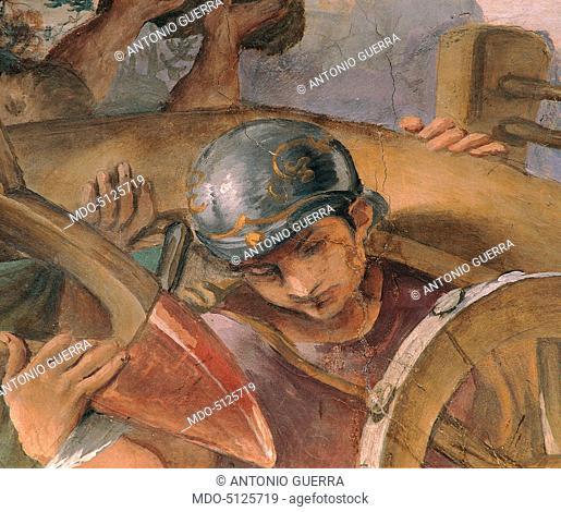 Histories of the Foundation of Rome (Storie della fondazione di Roma), by Annibale, Agostino and Ludovico Carracci, 1590-1591, 16th Century, fresco