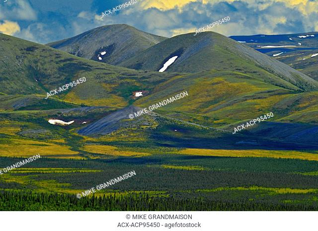 Ogilvie Mountains along the Dempster Highway Dempster Highway Yukon Canada