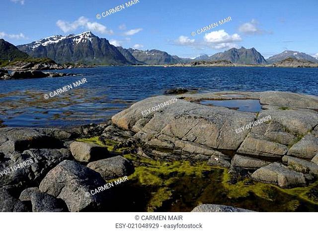 Küste bei Nilsvika in Stamsund