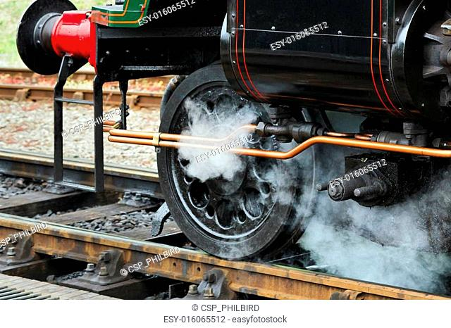 Close-up front wheel Sir Archibald Sinclair locomotive