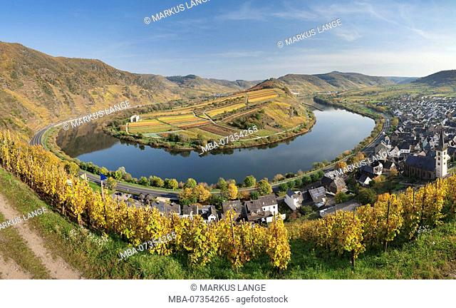 Moselle Loop at Bremm, Bremmer Calmont, Moselle, Rhineland-Palatinate, Germany