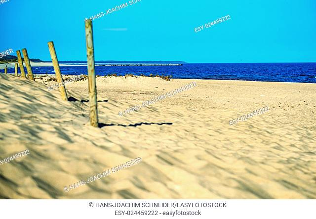 beach of the Baltic Sea in Poland