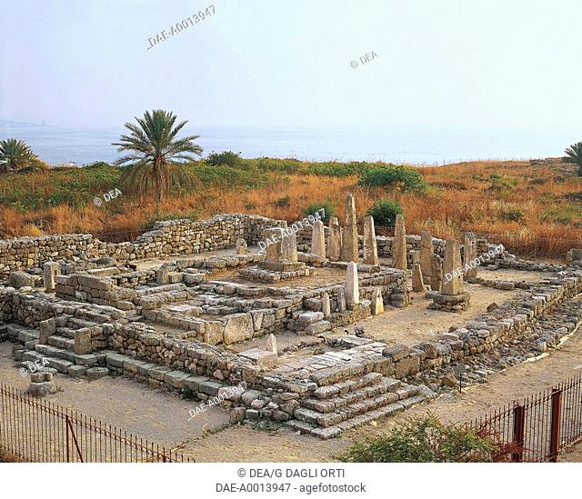 The Temple of the Obelisks of Biblo or Byblos (UNESCO World Heritage List, 1984), Lebanon. Middle of the Bronze Age, end 19th Century BC