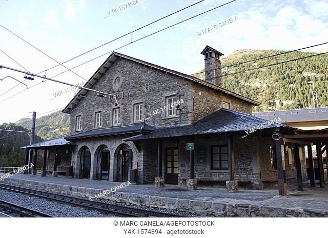 Vall de Núria rack railway station, Girona province, Catalonia, Spain