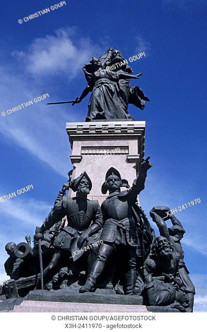 Monument a la Defense de 1557, 8 octobre Square, Saint-Quentin, Aisne department, Picardy region, northern France, Europe