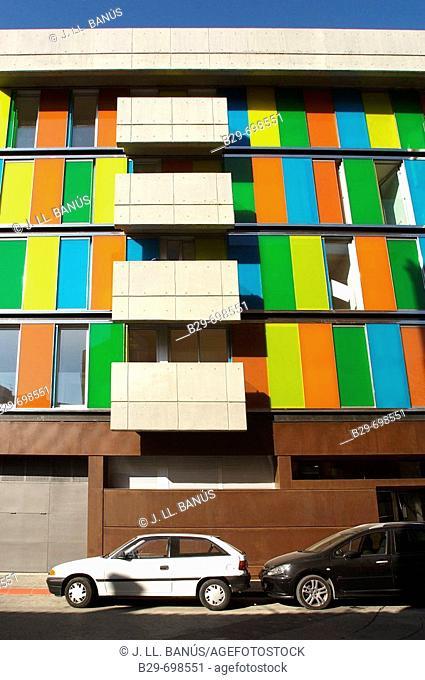 Colored façade