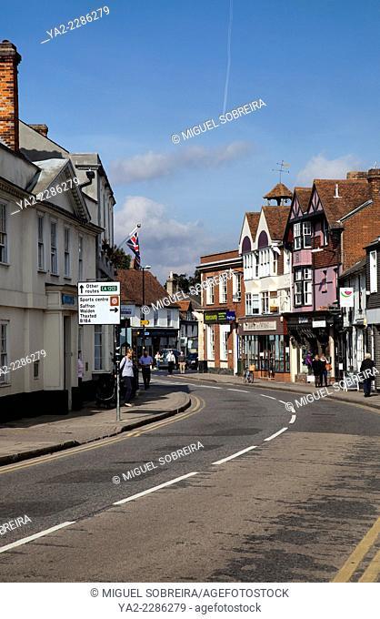 Great Dunmow High Street in Essex - UK