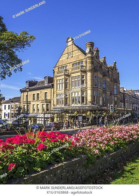 Bettys Tea Rooms on Parliament Street in Harrogate North Yorkshire England