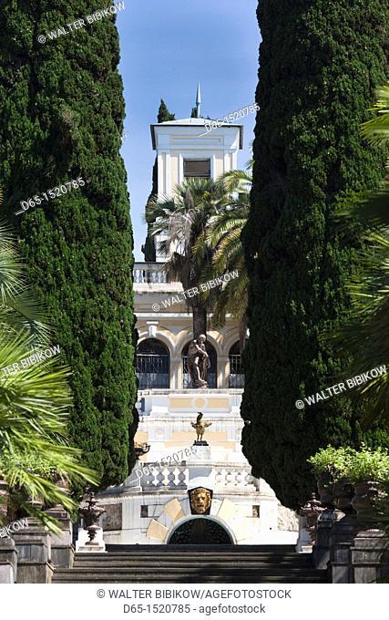 Russia, Black Sea Coast, Sochi, Arboretum Park, staircase by the Nadezhda Dacha summer house