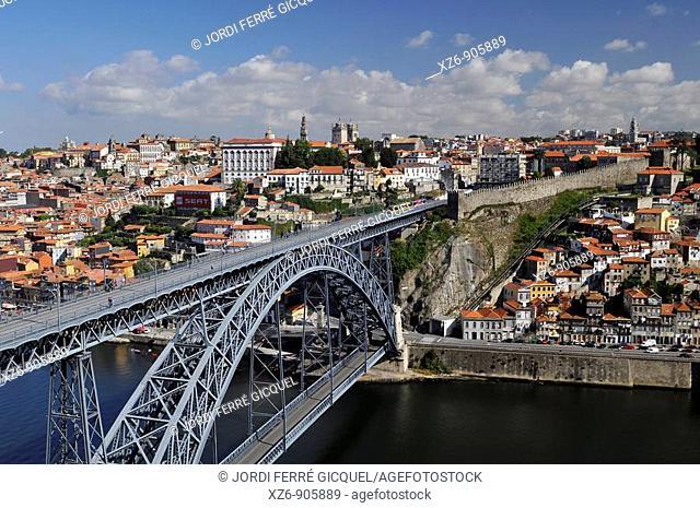 Ponte de D  Luis I, Porto, Portugal, Europe