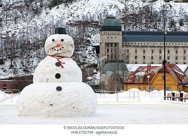 Snowman in Rjukan. Norway