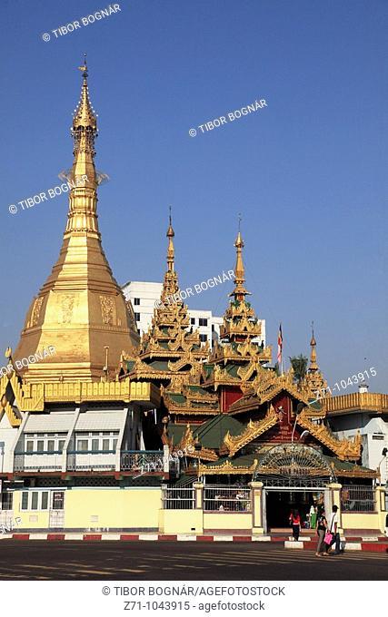 Myanmar, Burma, Yangon, Rangoon, Sule Pagoda