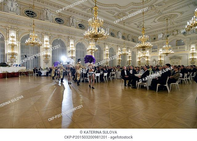 Czech President Milos Zeman and First Lady Ivana Zemanova host a charity ball in the Spanish Hall at Prague Castle, the presidential seat, tonight, on Friday