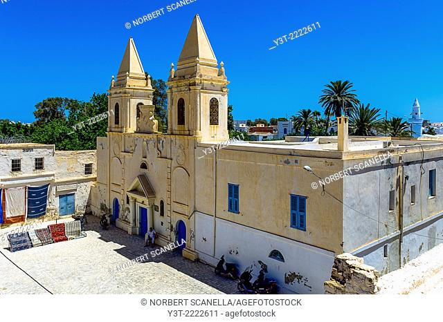 Africa, North Africa, Maghreb, South Tunisia, Governorat of Medenine, Djerba island, Houmt Souk. Saint Joseph Catholic Church