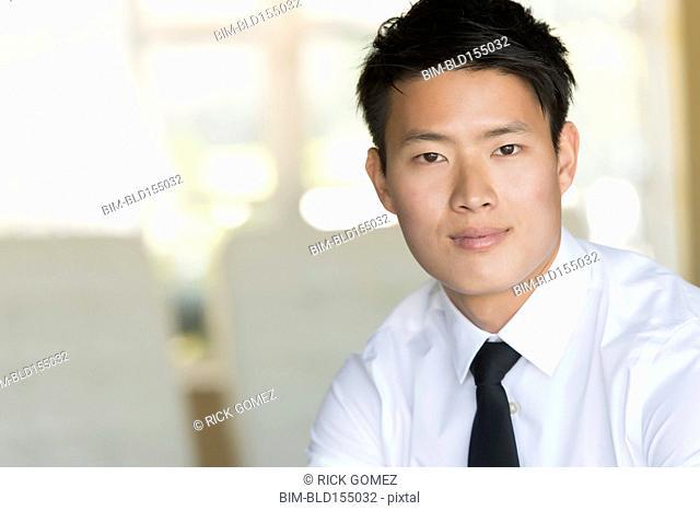 Korean businessman smiling