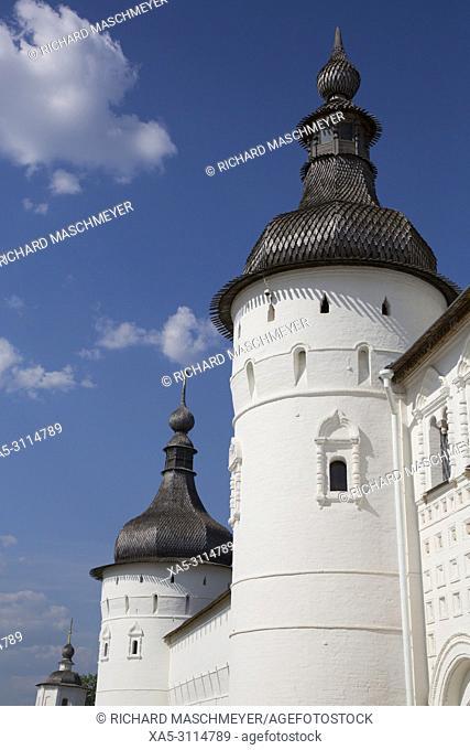 Tower and Kremlin Wall, Rostov Veliky, Golden Ring, Yaroslavl Oblast, Russia