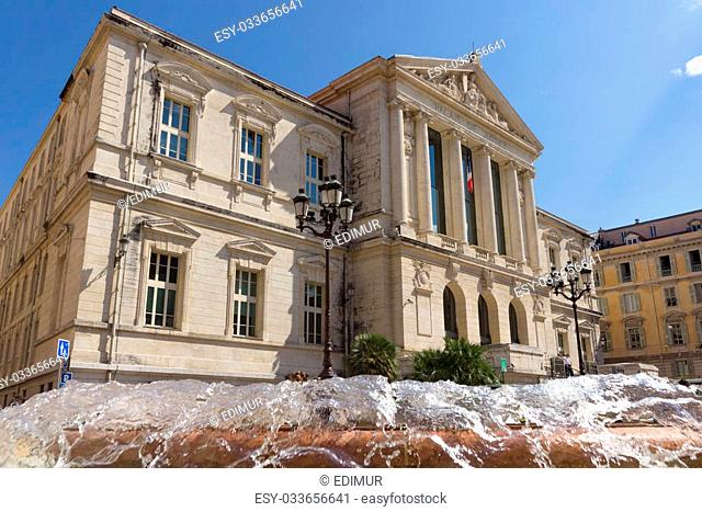 The palais of justice in Nice, Cote d'Azur, Provence, France
