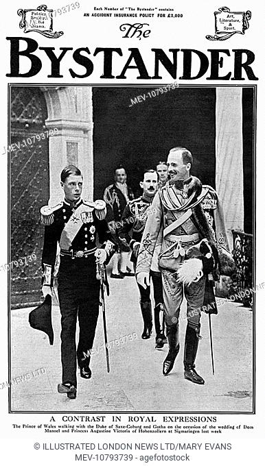 Front cover of The Bystander showing Edward, Prince of Wales (later King Edward VIII, then Duke of Windsor) in the uniform of a naval lieutenant