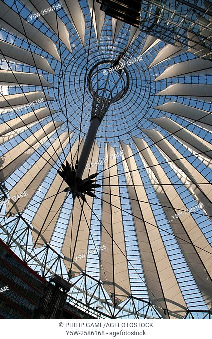 Skylight dome of the Sony Center at Potsdamer Platz, Berlin