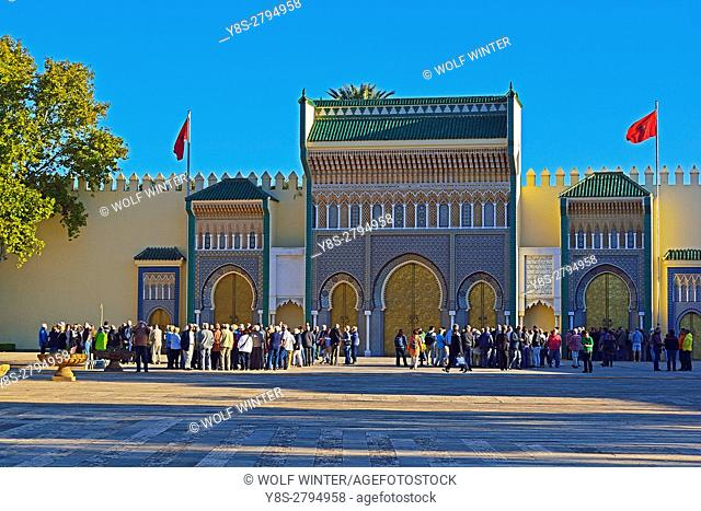 King's Palace, Fes, Middle Atlas, Morocco