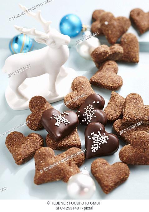 Heart shaped Christmas cookies, Switzerland