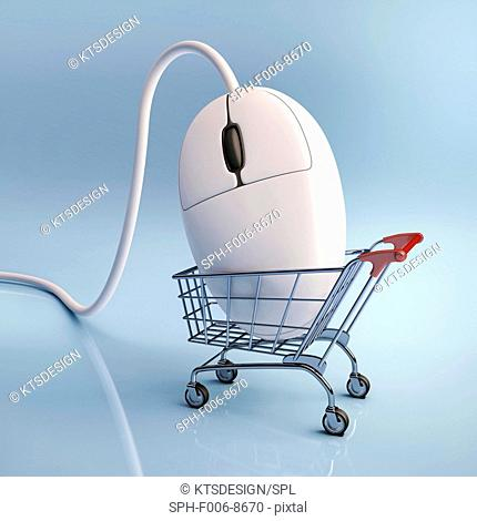 Internet shopping, conceptual computer artwork