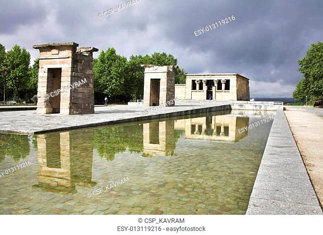 Temple Debod in the center of Madrid