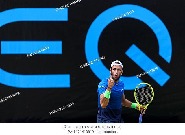 Finale: jubilation, delight in winner Matteo Berrettini (ITA). GES / Tennis / ATP Tour 250: MercedesCup 2019, 16.06.2019 Tennis ATP Tour 250: MercedesCup 2019