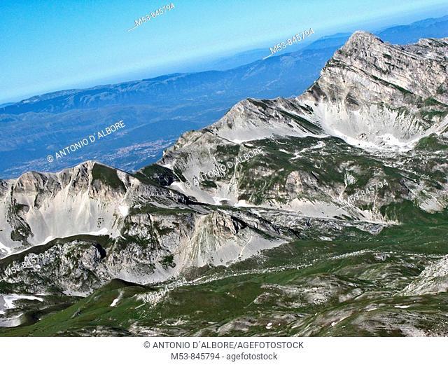 pizzo cefalone and campo pericoli gran sasso d'italia province of l'aquila abruzzo italy europe